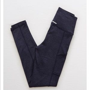 """Navy Aerie """"Chill Play Move"""" leggings with pockets"""